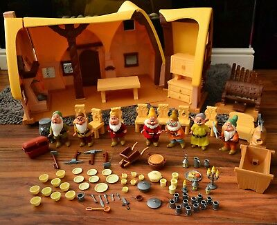 Disney Snow White and Seven Dwarf Play Cottage with Dolls and Accessories SET