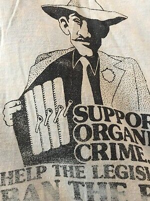 Vintage Ban The Bong Weed Political Tshirt 1970s Hippie Funk XL