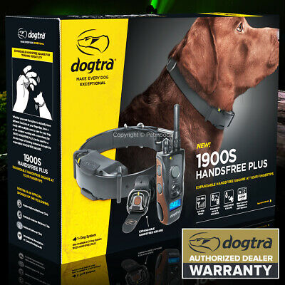 Dogtra 1900S HANDS-FREE Remote Stubborn Dog Trainer Collar 3/4 Mile Waterproof