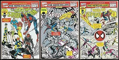 The Amazing Spider-Man Annual #26 Spectacular #12 Web Of #8 Marvel 3 Comic Lot!