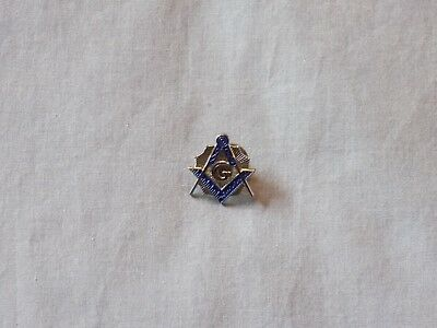 Silver Color Master Mason Lapel Tac Pin Square and Compass  Fraternity NEW!