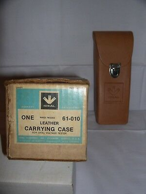 Vintage Ideal Leather Carrying Case For Ideal Voltage Tester Cat. #61-010 Nos