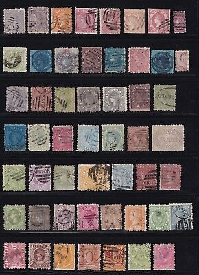 Stamps Australia - Victoria Mixed Lot Two Pages - Various Condition.