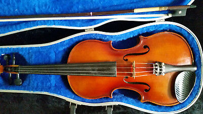 Old Meisel Violin GEIGEN BASS UND CELLEBAU 4/4 Vintage Antique
