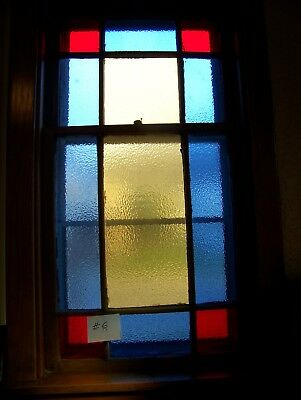 Antique Vintage Church Stained Glass Window Architectural Salvage