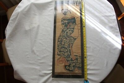 Huge antique Japan woodblock, signed 一壽齋 廿萬員畫
