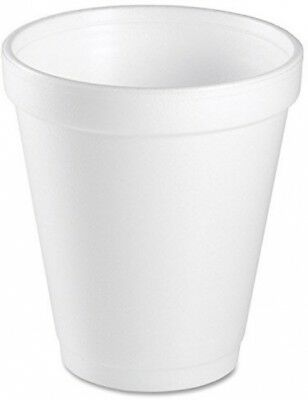 Dart 8 Oz White Disposable Coffee Foam Cups Hot and Cold Drink Cup, Pack of 100