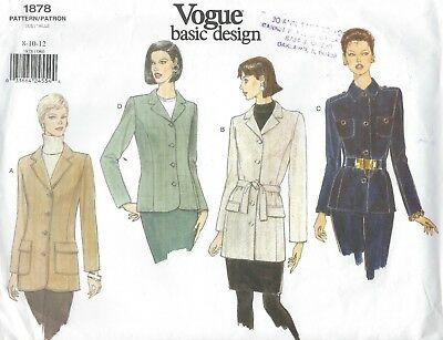 Vogue 1878 Misses'/Miss Petite Jacket  *Extremely Rare*  Sewing Pattern