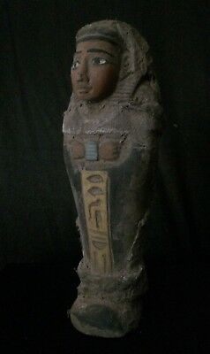 Rare ANCIENT EGYPT Shabti EGYPTIAN Antique STATUE USHABTI Luxor STONE BC