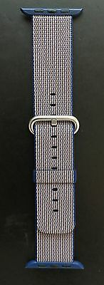 NO Box & New Original Apple Watch ROYAL BLUE Woven Nylon Band 42mm