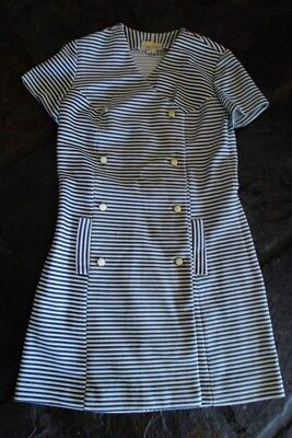 RETRO VINTAGE 1960s SYDNEY MINI CRIMPLENE DRESS SSW APPROX SIZE 10