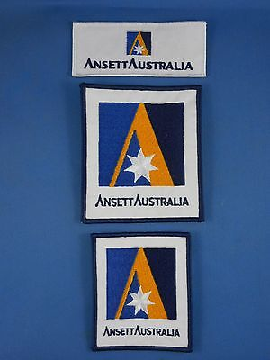 Ansett Australia Embroidered Cloth Badges X 9