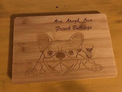 Unique Hand Crafted Wooden French Bulldog Cutting Board