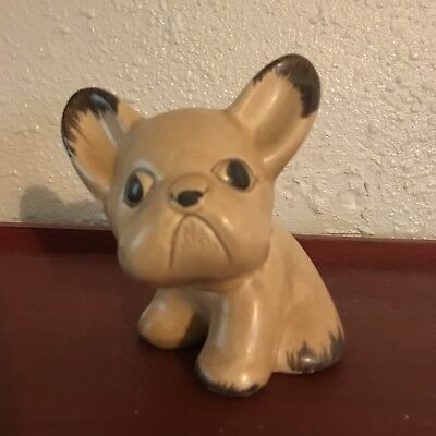 Unique Vintage Collectible Bourne Denby Pottery Dog  French Bulldog