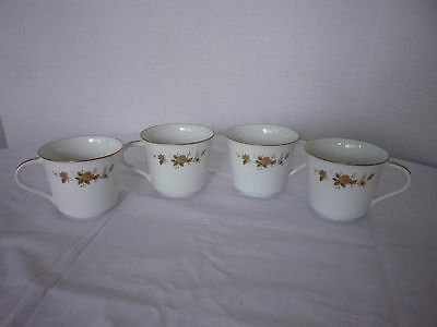 Set of 4 Noritake Ninon Tea Cups