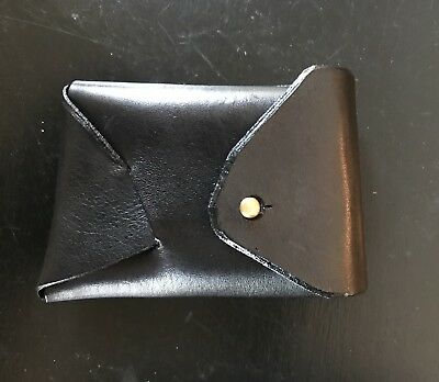 Wolf & Maiden Cape Town Black Leather Wallet Black Coin Compact Hand Crafted