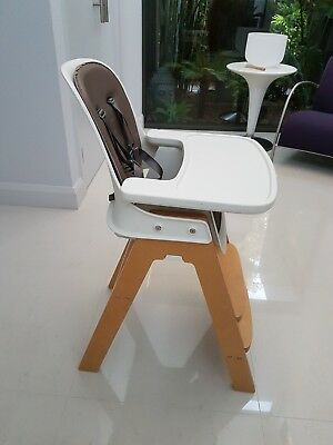 OXO Tot Sprout High Chair, Taupe/Birch - cushioned seats, adjustable