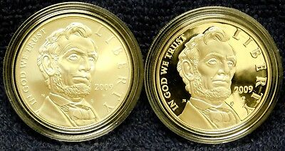 2009 Abraham Lincoln Proof and Uncirculated Commemorative 90% Silver Dollars