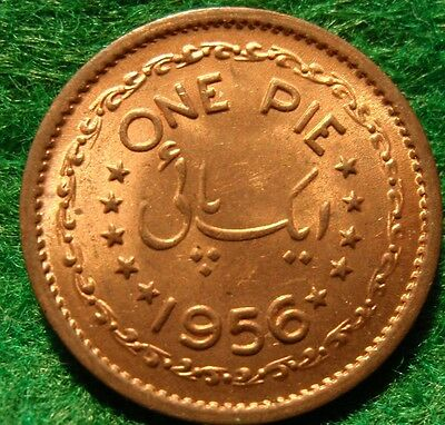 1956 Pakistan One Pie ~ High Grade GEM BU