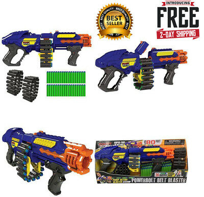 Gun Zombie Powerbolt Belt Blaster Strike Fire Foam Soft Dart Nerf Kids Toy Gift