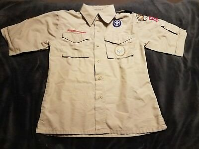 Official Boy Scouts Of America Uniform Shirt Size Youth Medium