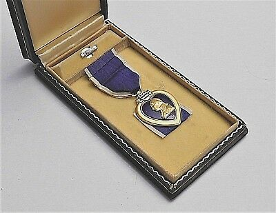 Early Numbered Wwii Combat Wound Medal