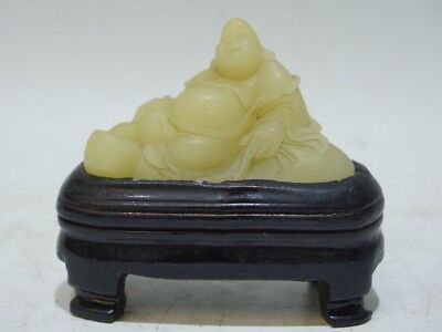 Chinese Exquisite Hand-carved Luohan carving Shoushan Stone statue