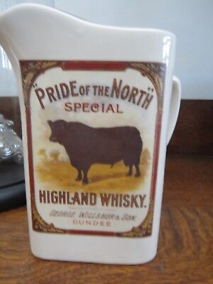 Vintage Jug Bull Pride of the North Highland Whisky George Willsher & Son Dundee