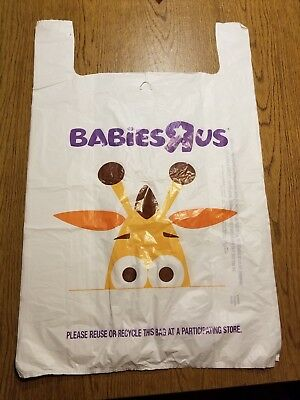 """[BRAND NEW] Extra Large Babies """"R"""" Us Plastic Shopping Bag with Geoffrey Mascot"""