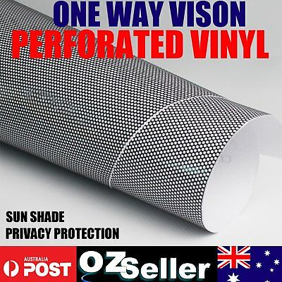 One Way Mirror Top Perforated Privacy Reflection Window Tint Film Stop Heat Film