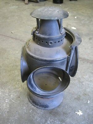 Adlake Round top railroad maker lamp for parts or restore