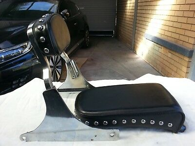 Harley Davidson Back Rest And Seat ,suits 1980-1990.custom And Softails.