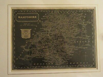 Hampshire city antique woodcut from approx. 1833