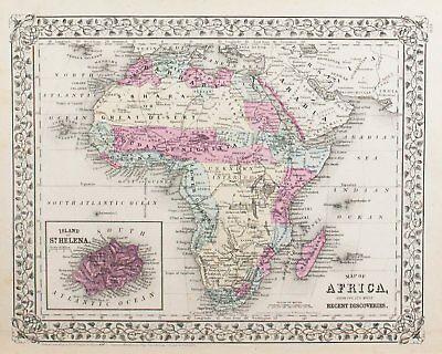 1881 Routes of Travel between London & India Oceania S Mitchell Jr Antique Map