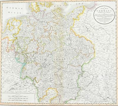 1808 A New map of Germany Cary Antique