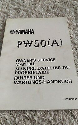 1990 Yamaha PW50 PW 50 PW50(A) Owner's Shop Service Repair Manual OEM