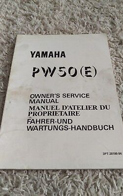 1993 Yamaha PW50 PW 50 PW50(E) Owner's Shop Service Repair Manual OEM