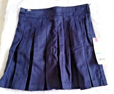 NWT Cherokee Girls  pleated uniform skirt with built in shorts size 6X