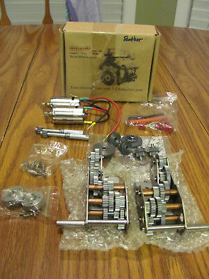 1/16 Tamiya / IMPACT Panther gearboxes, new in box never used with extras