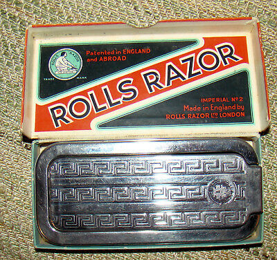 VINTAGE Rolls Razor Imperial #2 with Orig Receipt Made In England with Orig Box
