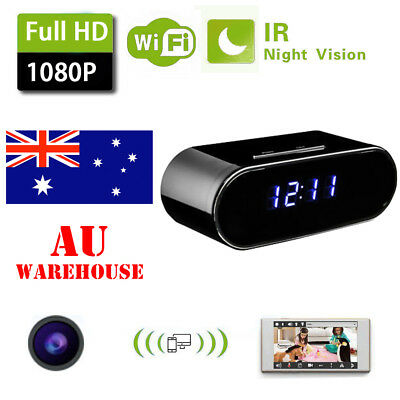 1080P Wifi Mini Spy IP Hidden Security Camera Wireless Motion Alarm Clock WebCam