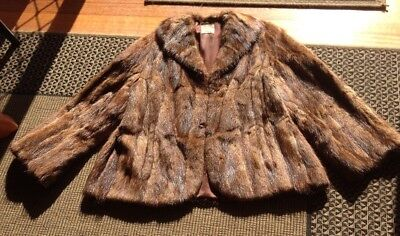 antique fox fur coat, Nettleberg's Brand, Excellent Condition, overall length 64
