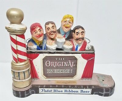 S115 VINTAGE PABST BLUE RIBBON BEER BARBERSHOP QUARTET SIGN 12x9x7