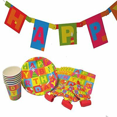 Kit per feste Susy Card 11450608, motivo: Happy Birthday, 25 pz. (yim)