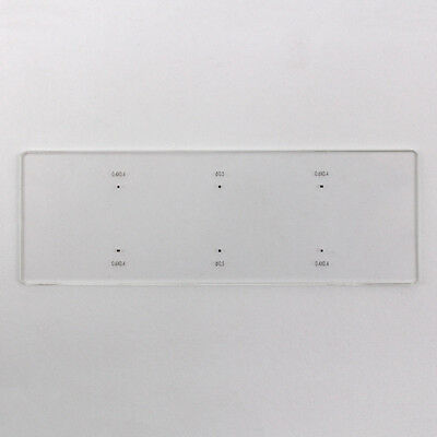 Microscope Stage Micrometer Objective Calibration Slide Round Square 6 Dots