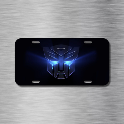 Transformers Vehicle License Plate Front Auto Tag NEW Autobots Decepticons