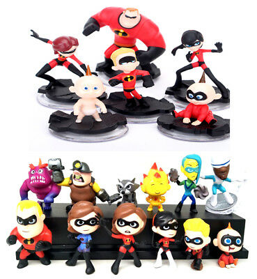 Disney Pixar The Incredibles 2 Movie Action Figure Play set Toy Doll Cake Topper