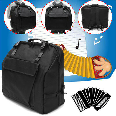 Accordion Gig Bag Case for 120 Bass Piano Backpack 1200D Thick Padded 51x25x43cm