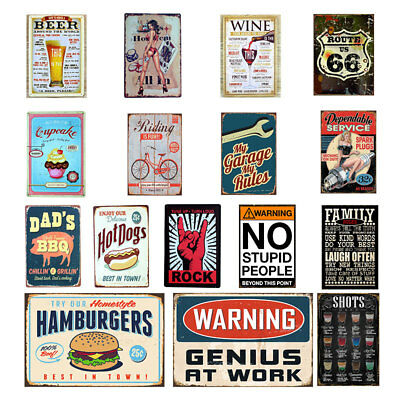 Retro Metal Tin Sign Poster Plaque Bar Pub Club Wall Home Decor A0298