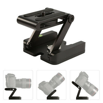 Folding Z Type Stand Holder Professional Tripod Kit Flex Tilt Head Pan New